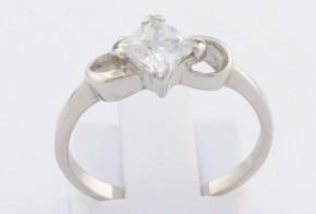 Годежен пръстен от бяло злато с циркон GD0139