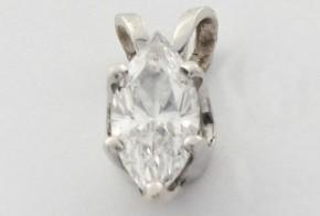 Висулка от бяло злато с диамант VE880