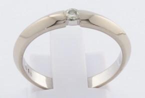 Годежен пръстен от бяло злато с диамант D1187