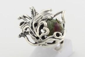 Сребърен пръстен с цветен турмалин CSD0012