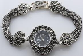 Дамски Сребърен часовник с марказити  CH0006