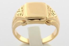 Мъжки пръстен от жълто злато MD0017
