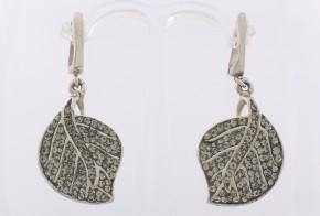 Сребърни обеци с циркони SO0018