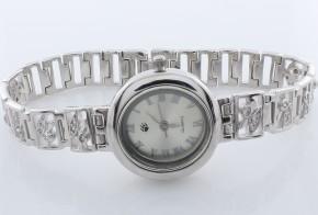 Дамски Сребърен часовник с циркони CH0008