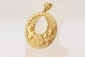 Златна висулка от  жълто  злато   V0203