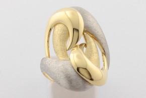 Дамски пръстен от бяло и жълто злато DD0119