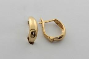 Дамски обeци от жълто злато - 1,99 грама, дължина на обеците   14  мм. ,ширина 4 мм.