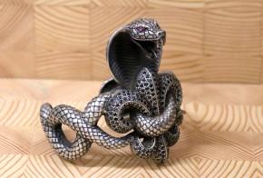 Сребърна гривна змия  SS0013- 1