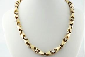 Златен синджир от бяло и жълто злато C0159