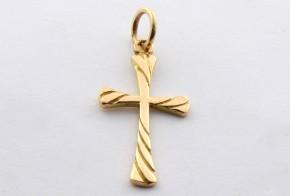 Златен кръст от  жълто злато VK0021