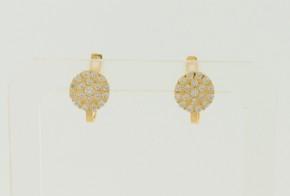 Детски златни обеци от жълто злато с циркони OBD0038