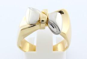 Дамски пръстен от бяло и  жълто злато DD0071