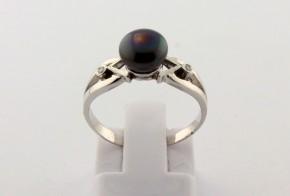 Годежен пръстен от бяло злато с диамант D2157
