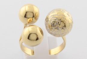 Дамски пръстен от бяло и жълто злато DD0122