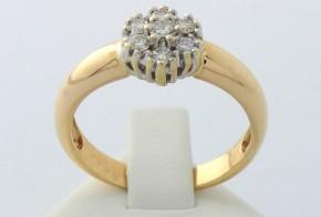 Златен пръстен от жълто злато с диаманти  D691