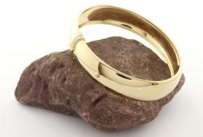 Златна  твърда гривна от жълто златo GR0183