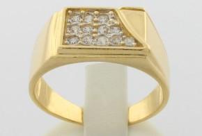 Мъжки пръстен от жълто злато MD0049