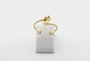 Дамски пръстен от жълто злато с циркон DD0212