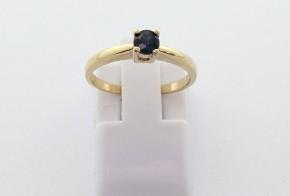 Годежен пръстен от  жълто злато с диамант D3065