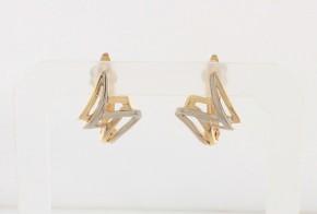 Златни обеци от бяло и жълто злато OB0172