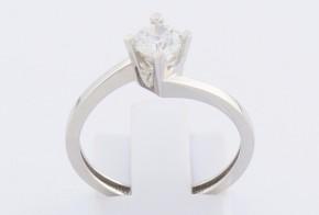 Годежен пръстен от бяло злато с циркон GD0097