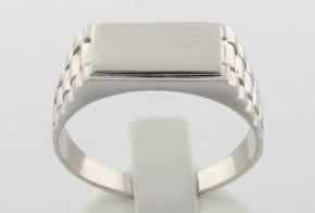 Мъжки пръстен от бяло злато MD0040