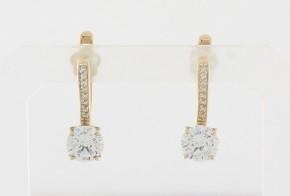 Сребърни обеци с циркони SO0111