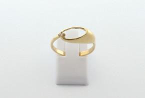 Дамски пръстен от жълто злато с циркон DD0211