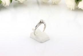 Годежен пръстен от бяло злато с диамант D2061