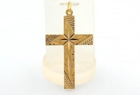 Златен кръст от жълто злато VKN0071