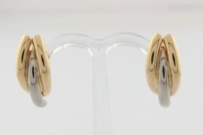 Дамски обеци от бяло и жълто злато     - 4,09 грама
