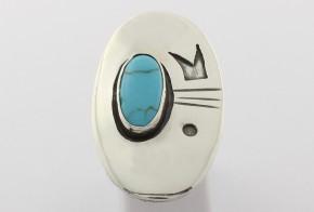 Сребърен пръстен с тюркоаз handmade CSD0035