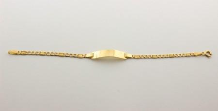 Детска гривна с плочка от жълто злато   -2,02 грама, 13,5 дължина,6-ширина
