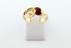 Годежен пръстен от жълто  злато с диамант D3079