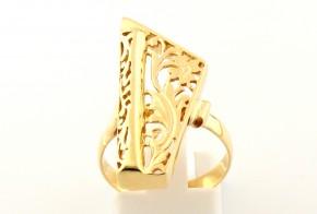 Дамски пръстен от жълто злато (пиано)  DD0082
