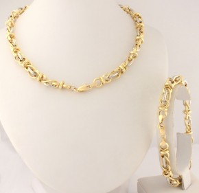 Комплект от бяло и жълто злато K0060