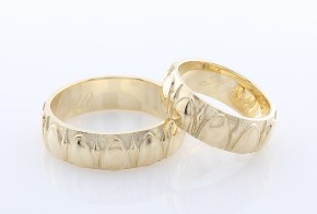 Брачни халки от жълто злато BH0184