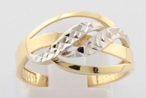 Дамски пръстен от бяло и жълто злато DD0131