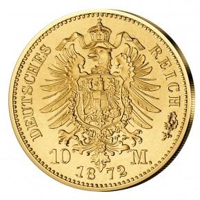 Монета Deutsches Kaiserreich, Preussen, Wilhelm I., 20 Mark 1872