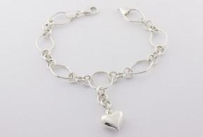 Сребърна гривна SGR0042