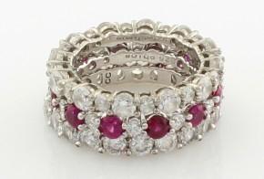 Сребърен пръстен с циркони CSD0019
