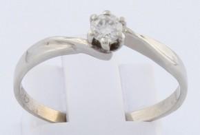 Годежен пръстен от бяло злато с диамант D1200