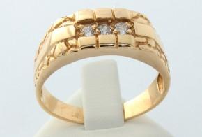 Мъжки пръстен от жълто злато MD0008