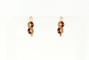 Детски златни обеци от жълто злато с циркони OBD0023