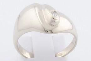 Дамски пръстен от бяло злато с диамант D6
