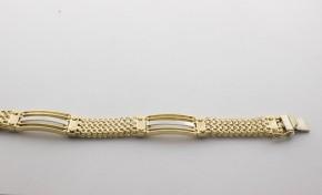 Златна гривна от бяло и жълто злато GR0039 - дължина 22 см., ширина 9 мм.