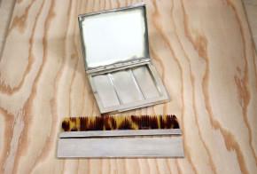 Сребърно огледало и гребенче SS0054