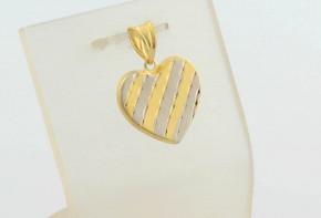 Златна висулка от бяло и  жълто злато VN0011
