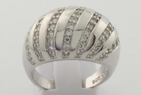 Дамски сребърен пръстен с циркони SD0069