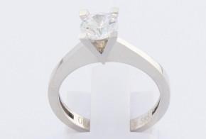 Годежен пръстен от бяло злато с циркон GD0085